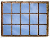 blue sky window view