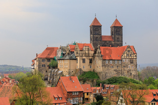 Schlossberg mit Stiftskirche in Quedlinburg