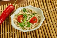 Lemony Barley Salad with Kale Pesto