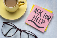 ask for help reminder note
