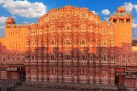 Hawa Mahal Palace, part of the City Palace Complex of Jaipur, Rajasthan, India