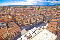 City of Verona aerial view from Lamberti tower