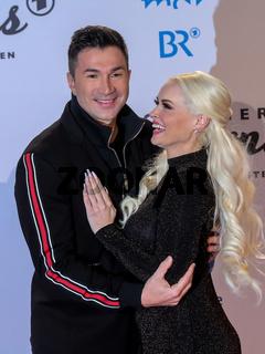 Lucas Cordalis  mit Ehefrau Daniela Katzenberger bei Schlagerchampions 2020 am 11.01.2020 in Berlin