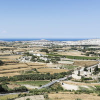 Landscape of island of Malta