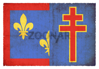 Grunge flag Maine-et-Loire (France)