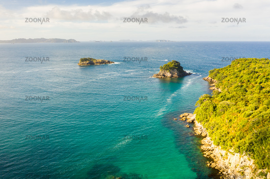 aerial view of Hahei Beach New Zealand