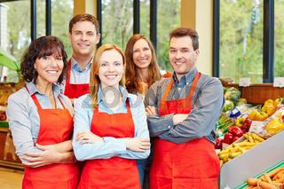 Mitarbeiter Team im Supermarkt