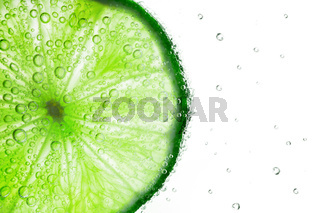 Lime with bubbles