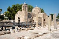 Orthodox Christian Church of Ayia Kyriaki at Paphos town in Cyprus