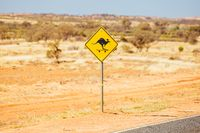 Kangaroo Sign in Northern Territory Australia