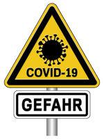 Warnschild Covid-19