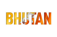 buthan flag text font