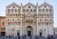 West front of the Cathedral - Ferrara