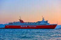 erryboat at the port of Aegina
