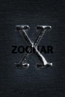 Schlagbuchstabe X