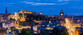 Edinburgh Panorama sunset