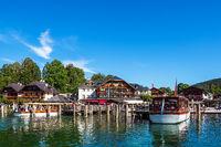 Blick auf Schönau am Königssee im Berchtesgadener Land