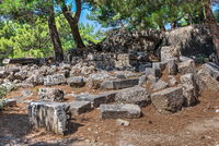 Ancient Greek city Priene on the western coast of Turkey