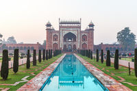 Taj Mahal Great Gate in India, city of Agra