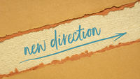 new direction concept on handmade paper