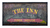 Rustic British Pub And Inn Sign