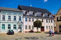 lübbenau, deutschland - 23.05.2019 - platz in der historischen altstadt