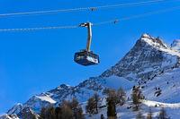 Kabine der Diavolezza Seilbahn, Skigebiet Diavolezza-Lagalb, Pontresina, Val Bernina, Engadin,