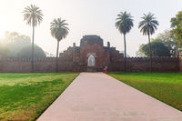 Wall ruins in the Humayun's Tomb Garden, New Delhi, India