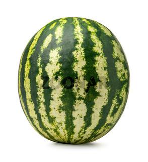 Ripe green watermelon