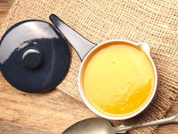Organic hokkaido pumpkin cream soup