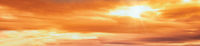 Summer sunset dranatic sky background panorama with clouds