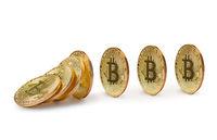 Falling bitcoins