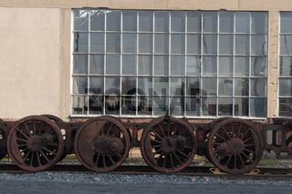 Eisenräder einer Dampflok