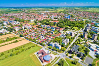 Town of Cakovec aerial view