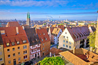 Nurnberg. Rooftops and cityscape of Nuremberg old town view