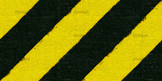Warning black and yellow hazard stripes texture