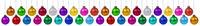 Weihnachten viele Weihnachtskugeln Banner Advent Farben Kugeln Dekoration hängen Freisteller isoliert freigestellt