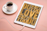 do what you love - success concept