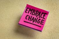 embrace change reminder note