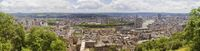 Panoramic view of Liege, Belgium