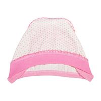 Baby girl pink hat isolated on white