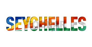 seychelles flag text font