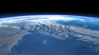 3D Illustration of the Earth Atmosphere