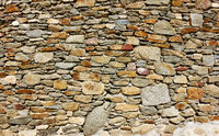 Texture of old masonry of stones