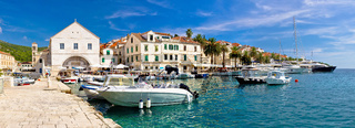 Town of Hvar waterfront view