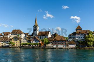 Die Altstadt von Diessenhofen. Kanton Thurgau, Schweiz