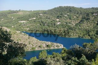 view of lake of holy cross, France