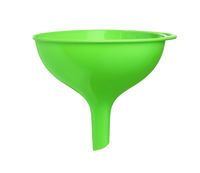 Green plastic funnel