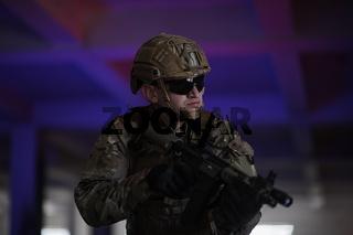modern warfare soldier in urban environment battlefield