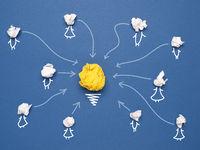 Teamwork, Netzwerk oder Community Konzept